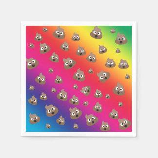 Cute Rainbow Poop Emoji Pattern Paper Napkins