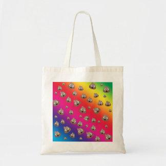 Cute Rainbow Poop Emoji Pattern Tote Bag