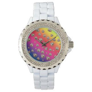 Cute Rainbow Poop Emoji Pattern Wrist Watch