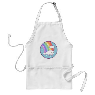 Cute Rainbow Seal Standard Apron