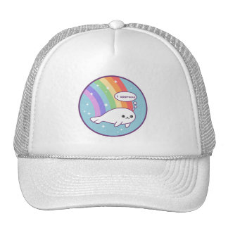 Cute Rainbow Seal Trucker Hat