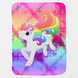 Cute Rainbow Unicorn Blanket Swaddle Blankets