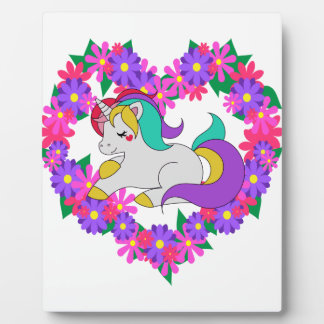 cute rainbow unicorn plaque