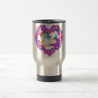 cute rainbow unicorn travel mug