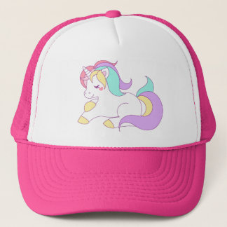 Cute Rainbow Unicorn Trucker Hat