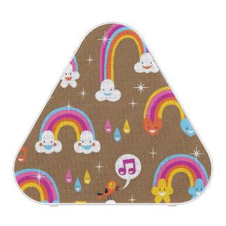 cute rainbows pattern speaker