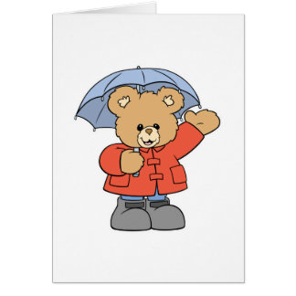 Cute Rainy Day Bear Card