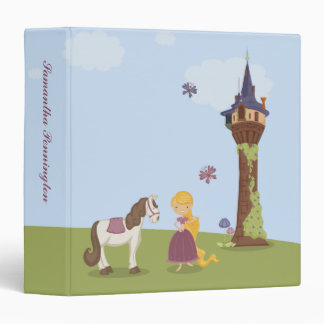 Cute rapunzel tower girl s personalized binder