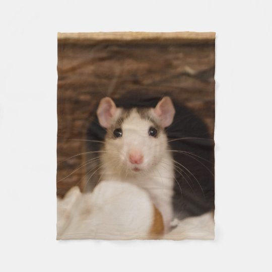 Cute Rat Fleece Blanket