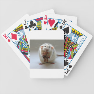 Cute Rat Holding teddy Bicycle Playing Cards
