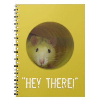 Cute Rat in a Hole Funny Animal Spiral Notebook