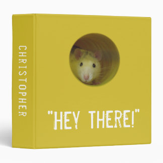 Cute Rat in Hole Funny Animal 3 Ring Binder