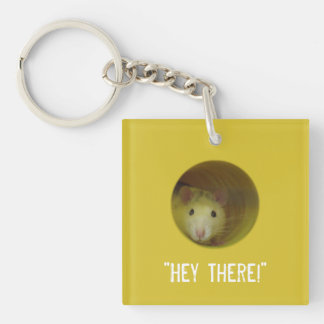 Cute Rat in Hole Funny Animal Keychain