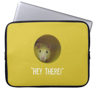 Cute Rat in Hole Funny Animal Laptop Sleeve