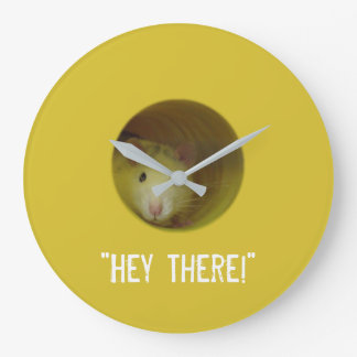 Cute Rat in Hole Funny Animal Large Clock