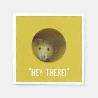 Cute Rat in Hole Funny Animal Napkin
