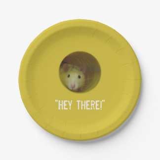 Cute Rat in Hole Funny Animal Paper Plate