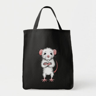 Cute Rat on tote bag