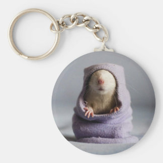 cute rat peek a boo keychain