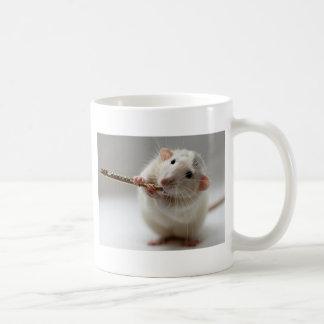 Cute rat playing flute coffee mug
