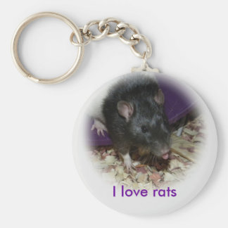 Cute rat sticking out his tongue keychain