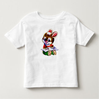 cute reading hamster toddler t shirt