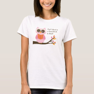 Cute Reading Owl T-Shirt