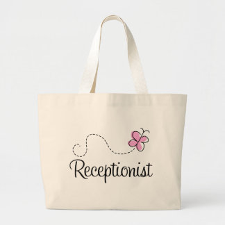 Cute Receptionist Tote Bag
