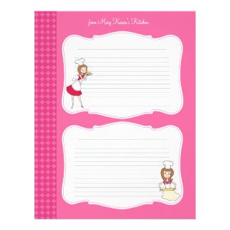 Cute Recipe Pages for Binders