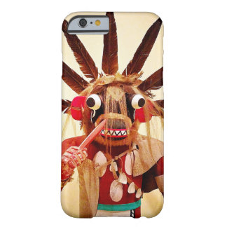 Cute, red and brown, funny face kachina doll photo barely there iPhone 6 case