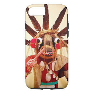 Cute, red and brown, funny face kachina doll photo iPhone 8/7 case