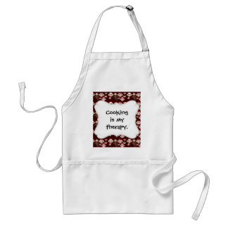 Cute Red and Pink Sock Monkeys Collage Pattern Apron