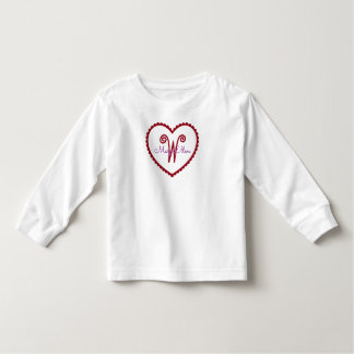 Cute Red and Purple Heart Monogram Toddler T-shirt