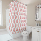 Cute red and white damask ikat tribal patterns