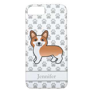 Cute Red And White Welsh Corgi Pembroke & Name iPhone 8/7 Case