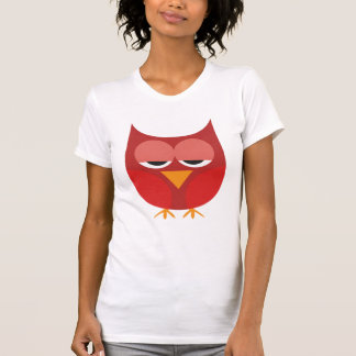 Cute Red And Yellow Cartoon Owl T-Shirt