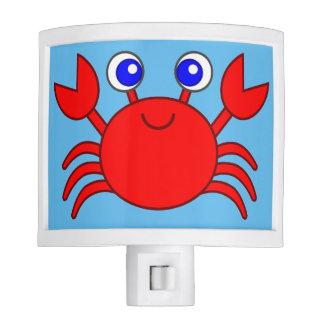 Cute red animated crab night light