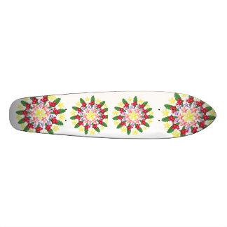 Cute Red Berry Garland Pattern Custom Skate Board
