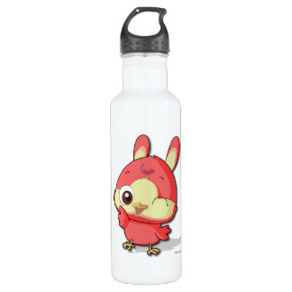 Cute Red Bird Funny Cartoon Character 24oz Water Bottle