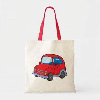 Cute red car tote bag