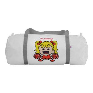 Cute Red Cheerleader Duffel Bag