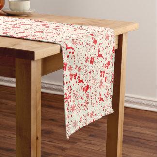 Cute red Christmas deer pattern - Xmas gifts Short Table Runner