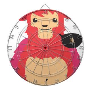 cute red cow design dartboard