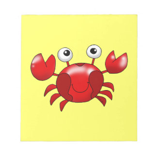 Cute red crab notepad