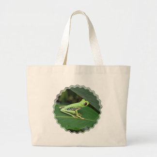 Cute Red Eyed Tree Frog Canvas Bag
