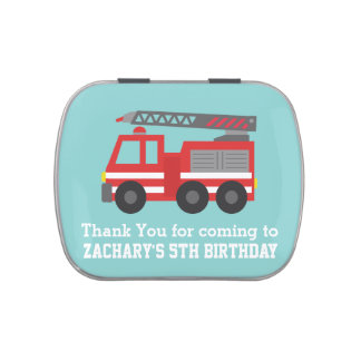 Cute Red Fire Truck Birthday Party Favors