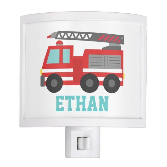 Cute Red Fire Truck for Boys Bedroom Nite Light