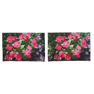 Cute Red Flowers Print Pillow Cases Pillowcase