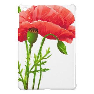 Cute Red Flowers White Mini Case iPad Mini Case