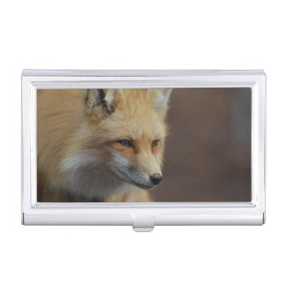 Cute Red Fox Business Card Holders